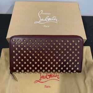 Nib Christian Louboutin Panettone Wallet Burgundy Boutique